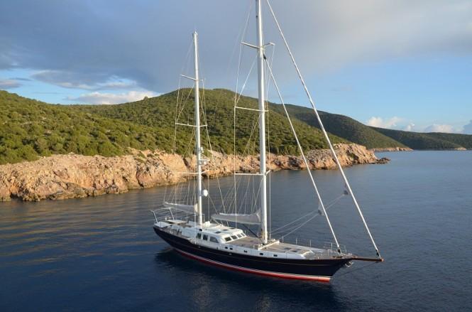 Kestrel 106 sailing yacht designed by Ron Holland built by Aganlar Boatyard