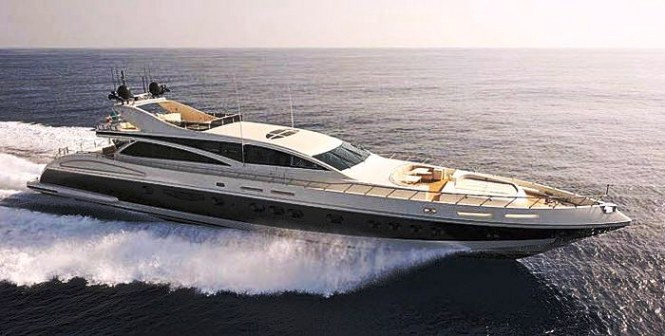 This large open style sport yacht was created by Leopard Yachts and launched ...