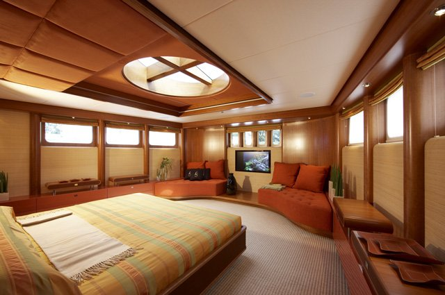 Luxurious and comfortable interior of the Life Saga Superyacht