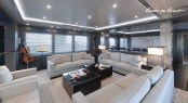 Luxurious interior on the Jongert super yacht Lucia designed by Guido de Groot