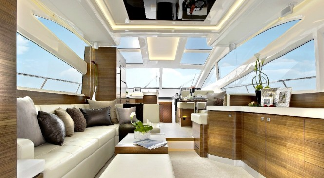 Luxury Main Salon on the super yacht Horizon E54