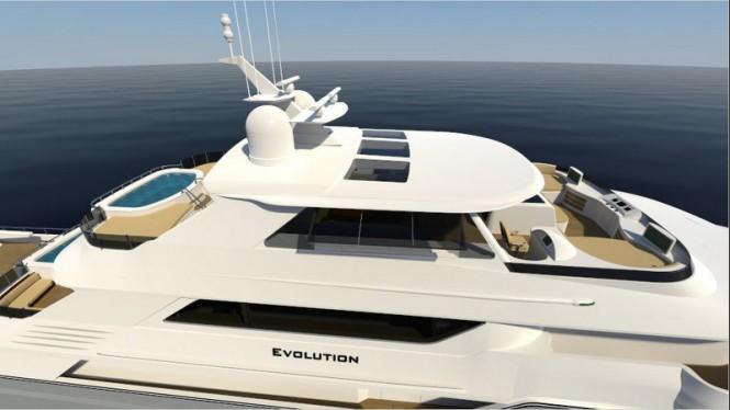 Luxury exterior on board Evolution Superyacht