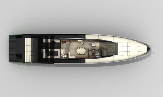 Main Deck of the Blunt 118 Superyacht