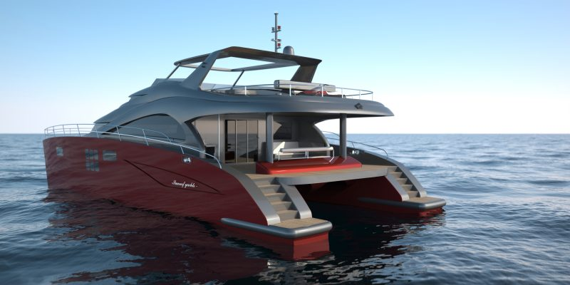 Motor Yacht 60 Sunreef Power Catamaran Rendering