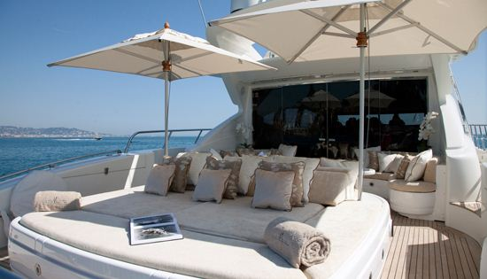 Motor yacht Bear Market Aft Deck
