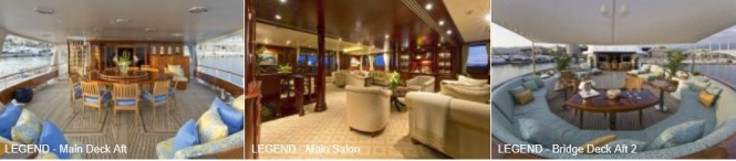 Motor yacht LEGEND available for charter during the 2012 London Olympic Games