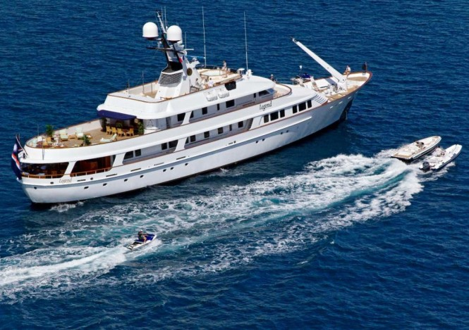 Motor yacht LEGEND available to charter for the London 2012 Olympic Games