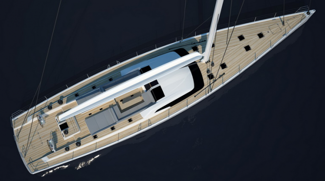 Nauta Design and Farr Yacht Design sailing Yacht SW 102 DS by Southern Wind - under construction
