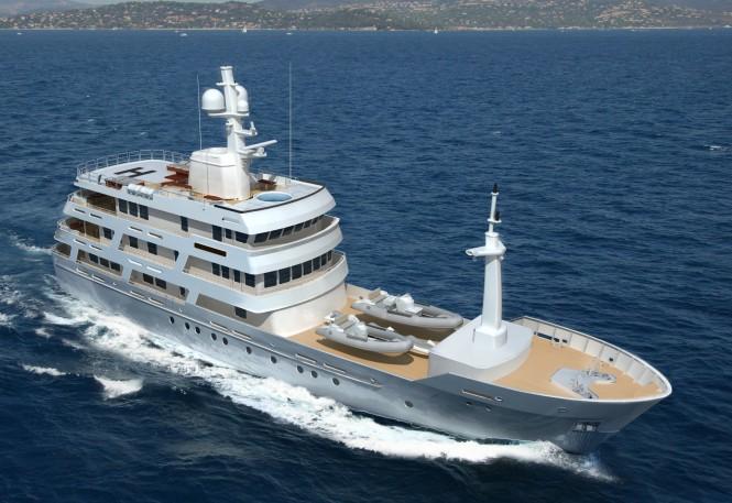 New 54m Luxury Motor Yacht Chuggaboom designed by Vripack