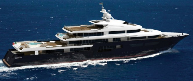 New 75m motor yacht Kaiser-75 by Kaiserwerft