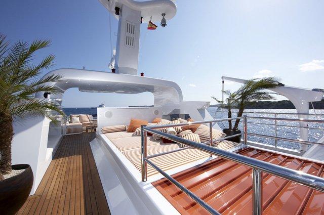 On board of the luxury yacht Life Saga