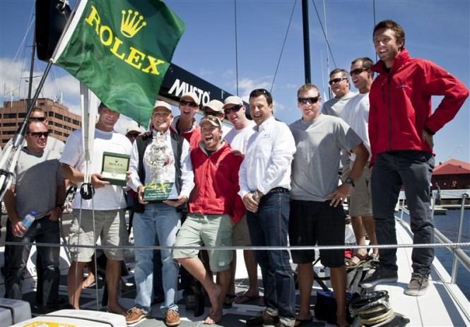 Overall Handicap Winner, LOKI crew with Patrick Boutellier, Rolex Australia Photo D. Forster
