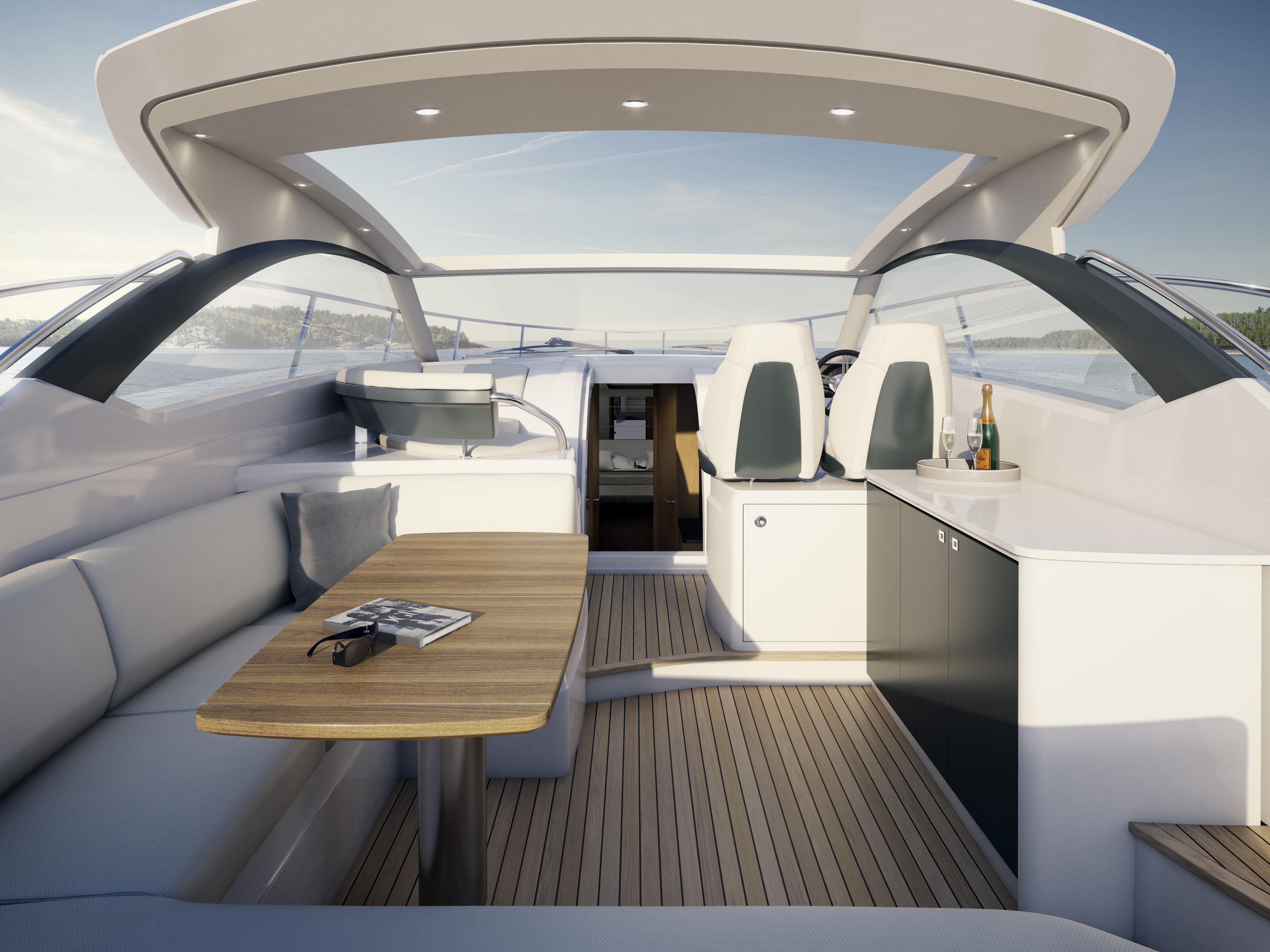 Princess V39 Yacht - cockpit