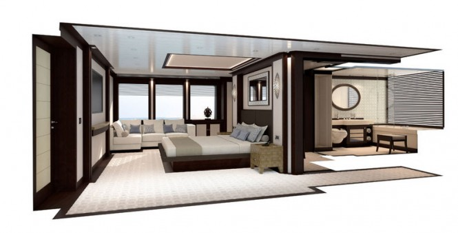 RMK 4500 superyacht offering highly-comfortable accommodation