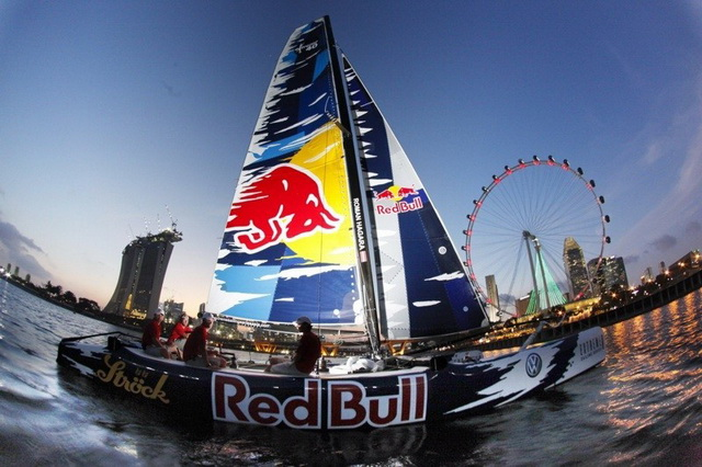 Red Bull Extreme Sailing team in Singapore 2011 Extreme Sailing Series