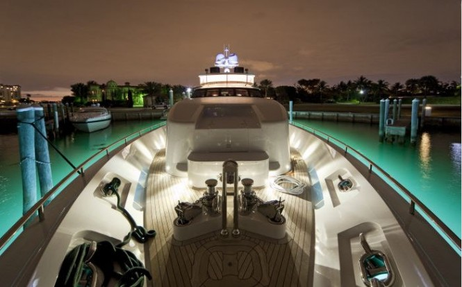 Seque superyacht with amazing exterior lights by Underwater Lights Ltd. Photo M. Paris