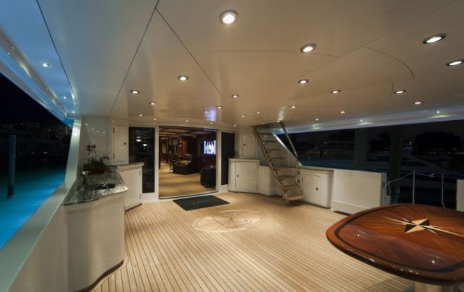 Serque superyacht with exterior lights by Underwater Lights Ltd Photo M. Paris