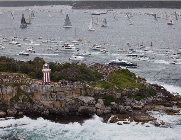 Spectators watch the fleet from South Head Photo D. Foster