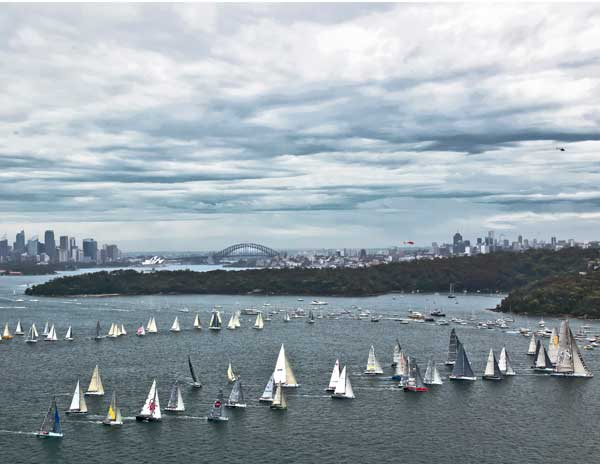 Start of the 67th Rolex Sydney Hobart Yacht Race Photo D. Forster
