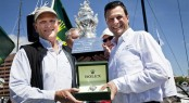 Stephen Ainsworth, owner of LOKI, Overall Handicap winner, with Patrick Boutellier, Rolex Australia Photo D. Forster
