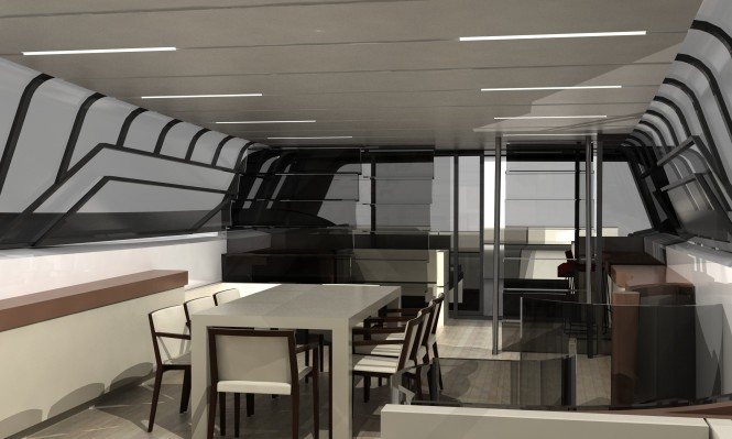 Stunning interior design of the Cafiero luxury yacht Blunt 118