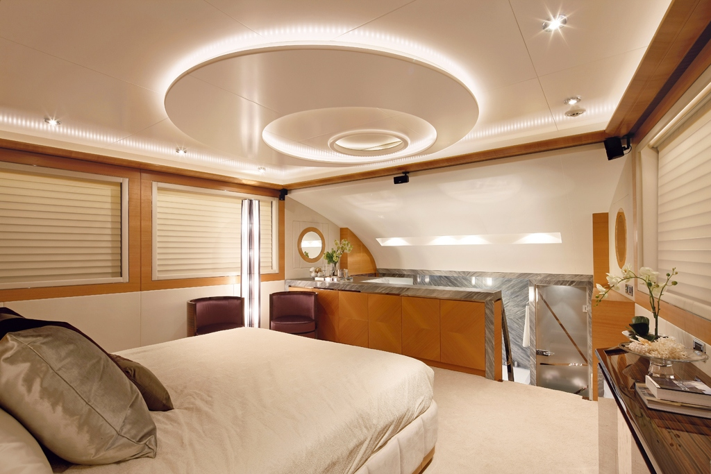 stunning interior design of the luxury yacht muses yacht