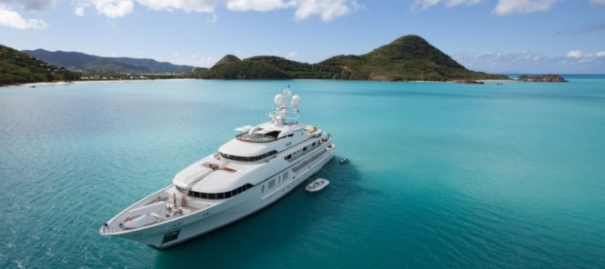 Superyacht RoMa in the Caribbean