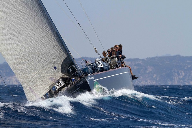 Swan 56 sailing yacht Clem, was the first Swan yacht to cross the ARC 2011 finish line - Photo Credit Kurt Arrigo