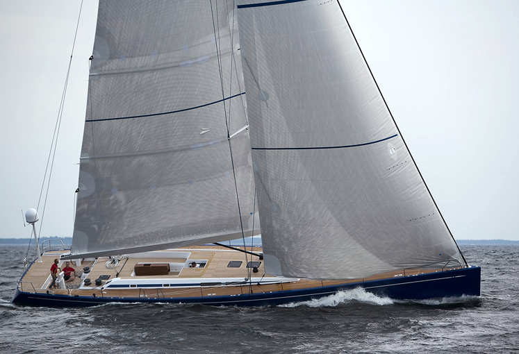 Swan 80 sailing yacht by Nautor's Swan
