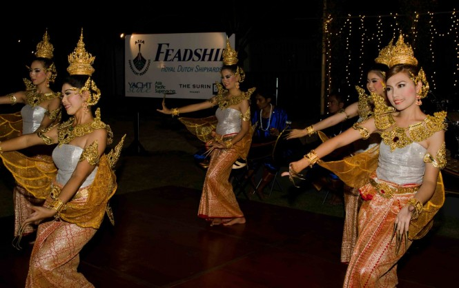 Thai dancing on the final evening of the 2011 Asia Superyacht Rendezvous
