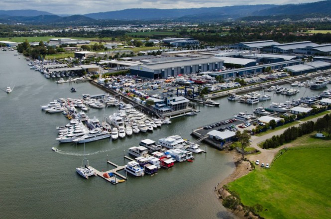 The Gold Coast Marine Expo featured hundreds of exhibits sprawled over 36 hectares
