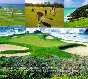 USA Luxury Golf Yacht Charter Vacations on Motor Yacht Stargazer