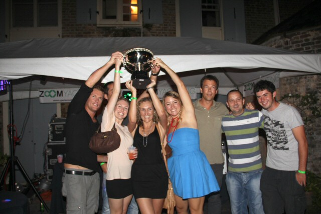 Motor yacht Charisma winner of the Antigua Yacht Club Marina Yacht Party Award at the 2011 Antiqua Yacht Charter Show