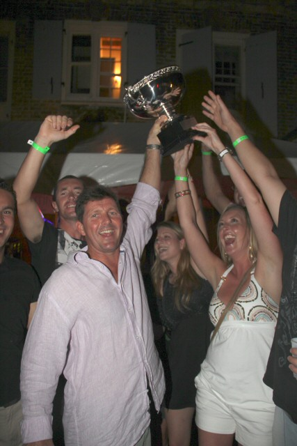 Yacht Hampshire winner of the Falmouth Harbour Night Best Yacht Party
