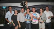 Yacht Teleost winner of the Nelson's Dockyard Marina Yacht Party Award at the Antigua Yacht Charter Show