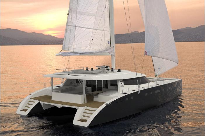 24m Sailing Yacht Sunreef 80 Rear View