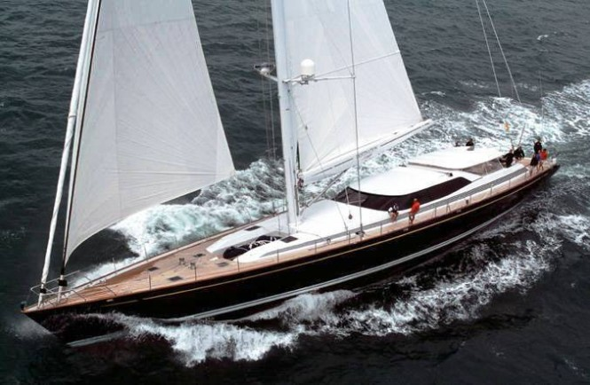 41m sailing yacht DESTINATION FOX HARBR - Photo Courtesy  of Alloy yachts