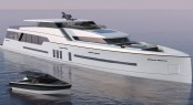 47m motor yacht and 8m superyacht tender by C.Way Pty