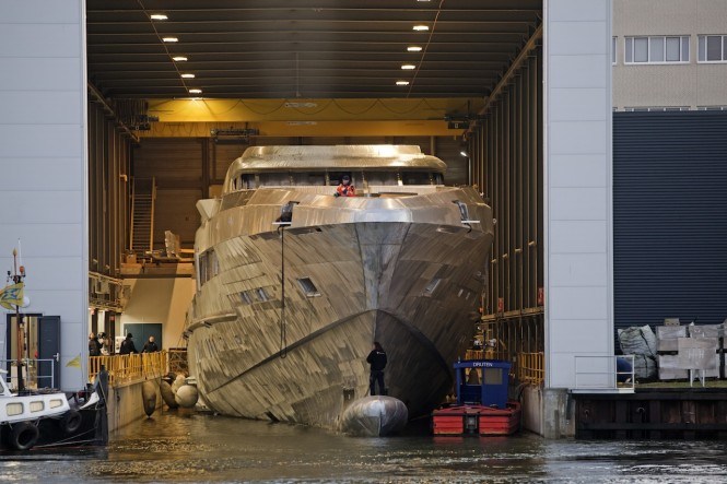 65m FDHF YN 16465 superyacht under construction at Heesen Yachts - Photo credit to Justin Ratcliffe