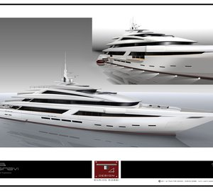 T4 Design by Enrico Gobbi 75m Motor Yacht Concept for Rossi Navi