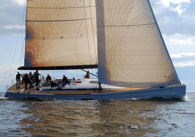A Nautor's Swan 60 Sailing Yacht