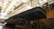AUDACIA yacht at the Pendennis shipyard during her refit - Photo courtesy of Pendennis
