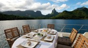 Al fresco dining - luxury yacht MISS KULANI - Photo by Tim McKenna Photography©