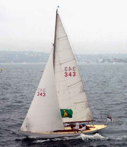 Antares won the Classic Yachts division of last year's 175th Australia Day Regatta Photo John Jeremy