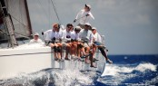 Antelope enjoying fantastic racing conditions went on to win Racing A in the 2011 BVI Spring Regatta & Sailing Festival.