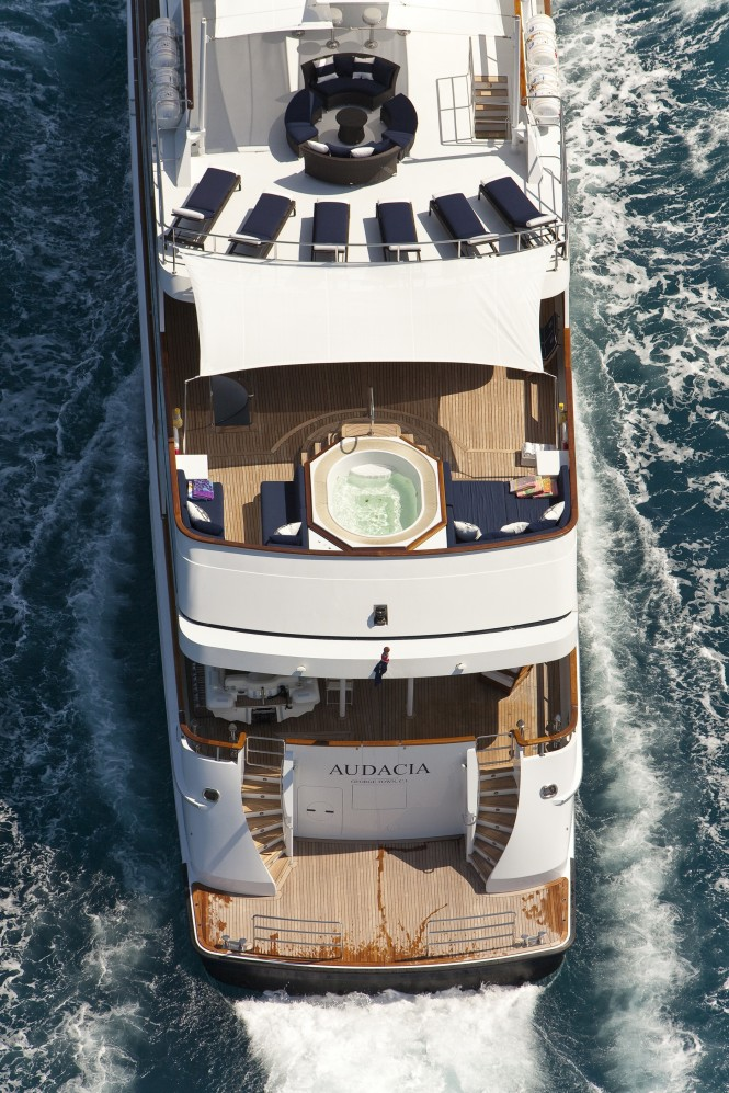 Audacia superyacht - Photo by Marc Paris courtesy of Pendennis Shipyard