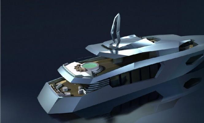Bannenberg & Rowell RW40 Superyacht - rear view