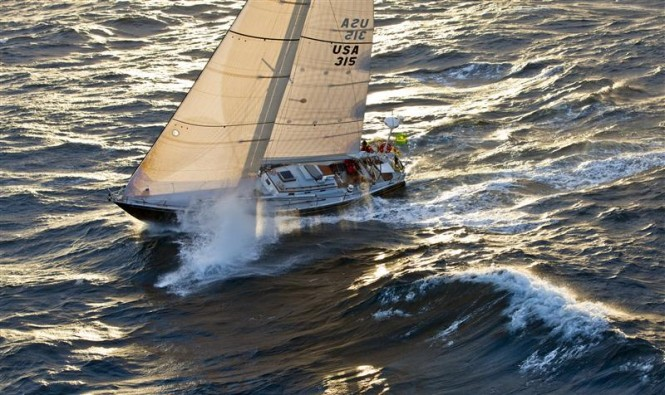 Rives Potts´ sailing yacht CARINA Photo: ROLEX/D. Forster