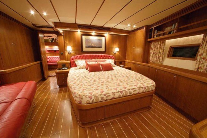 Charter Yacht Farewell - Master Cabin - Photo courtesy of Nauta Yachts