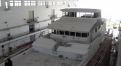 Construction of the first Nordhavn 120 Superyacht In Progress